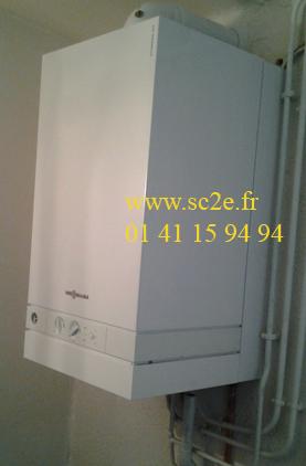 Installation d'une chaudière à condensation - 92